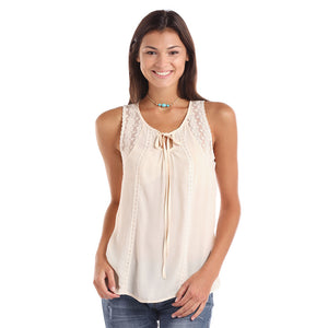 Panhandle Cream Lace Tank