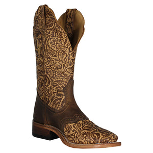 Boulet Vintage Floral Cowgirl Boots
