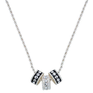 Montana Silversmiths Crystal Shine Three Ring Necklace