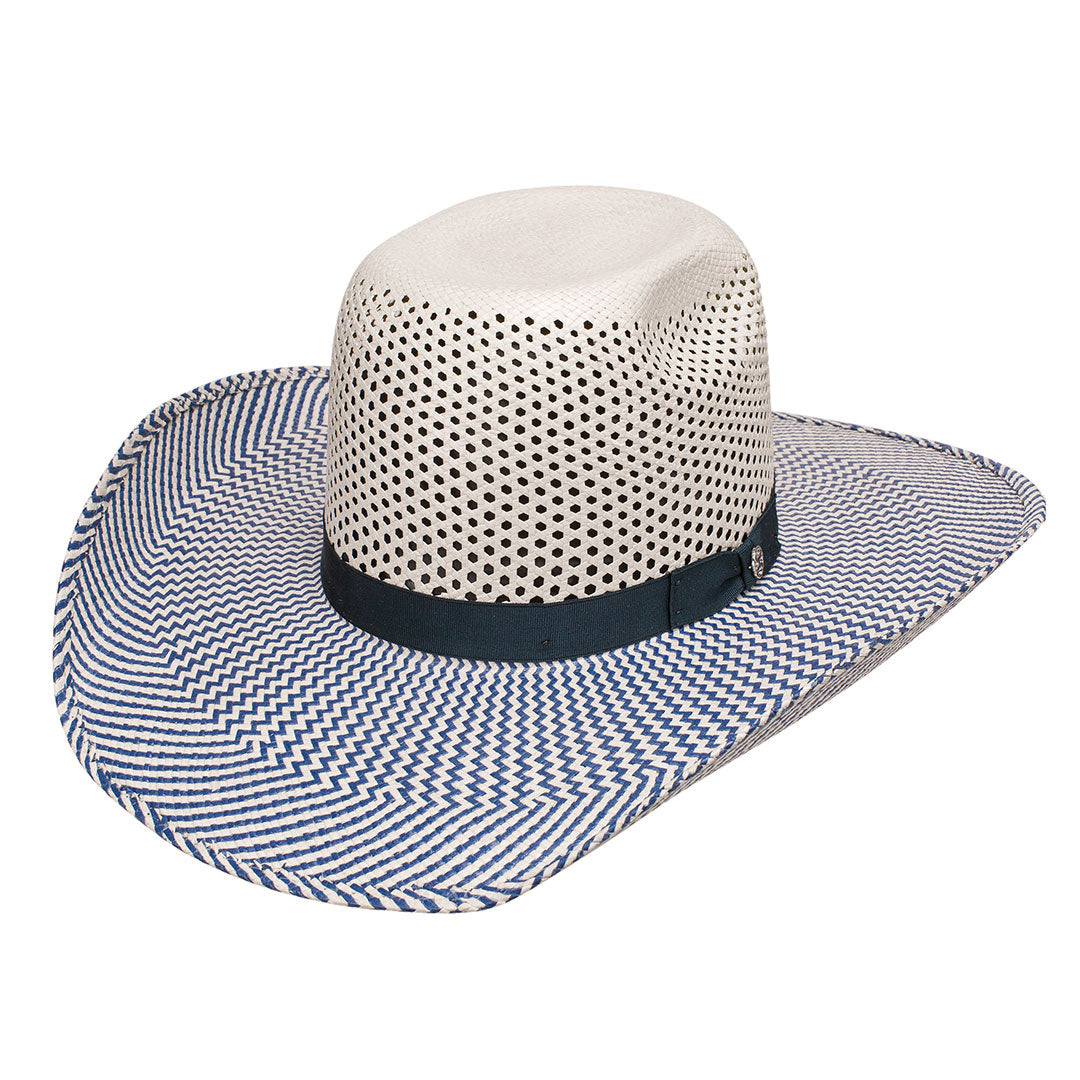 Hooey Holden Blue Two-Tone Straw Hat
