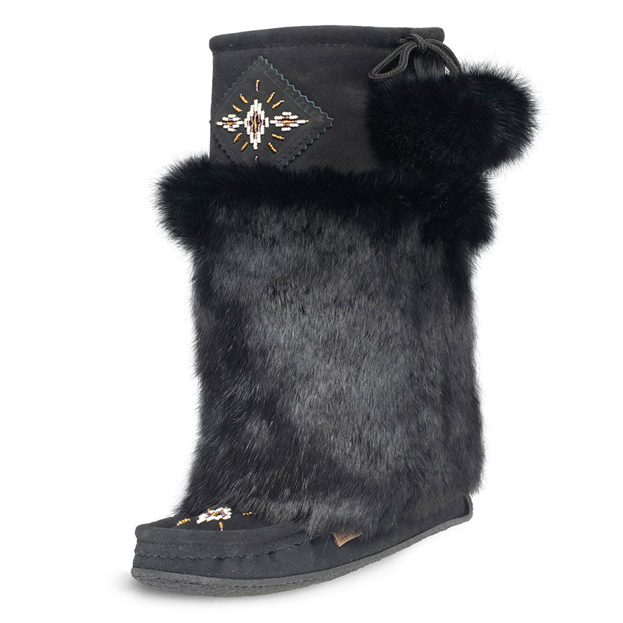 Laurentian Chief Black Suede Women's Mukluk