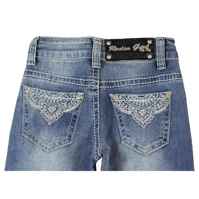 Rodeo Girl Mandala Embroidery Jeans