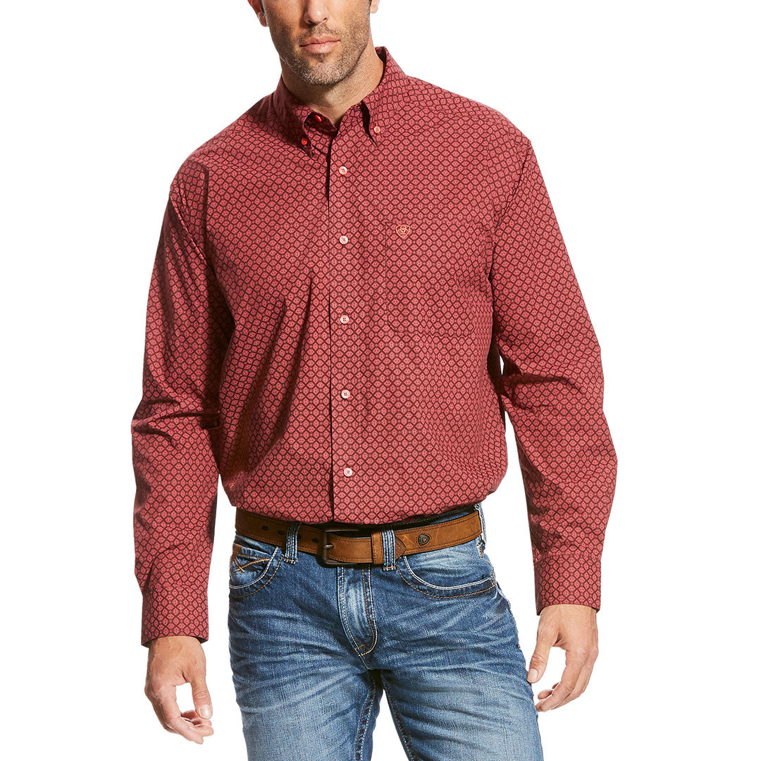 Ariat Tamburello Red Print Shirt