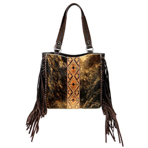Trinity Ranch Hair-On Cowhide Leather Embossed Tote
