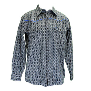 Cowboy Hardware Black Double Diamond Print Shirt