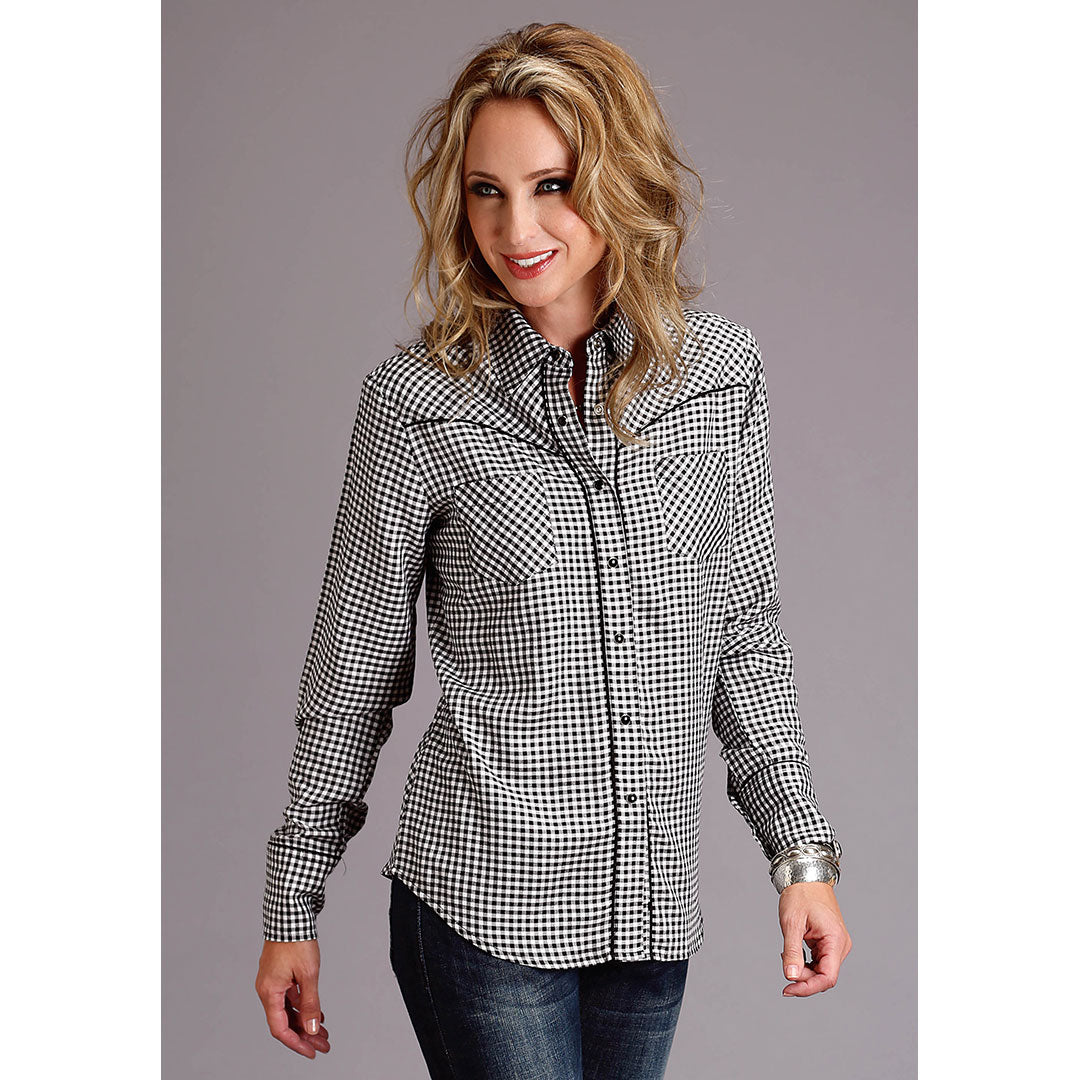 Stetson Black & White Gingham Shirt