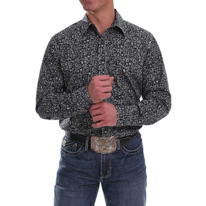 Cinch Men's Floral Print Modern Fit Shirt