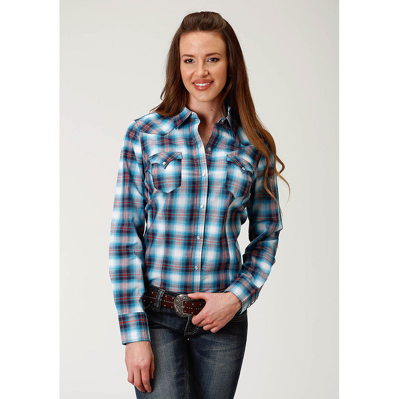 Roper Red & Blue Plaid Shirt