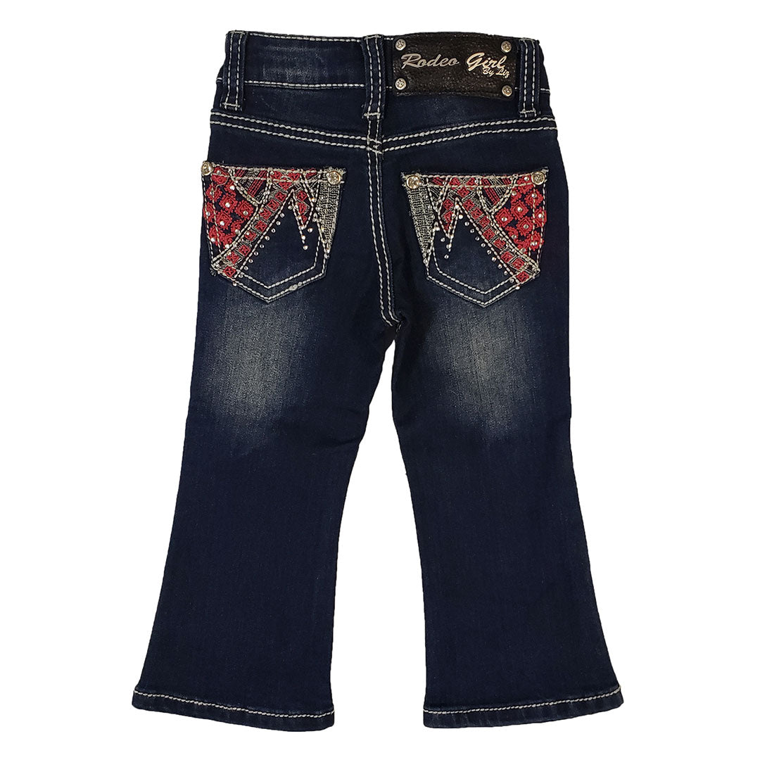 Cowgirl Collection Floral Embroidered Toddler Boot Cut Jean