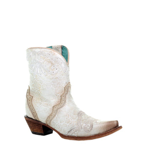 Corral Maja Floral Western Wedding Cowgirl Ankle Boot