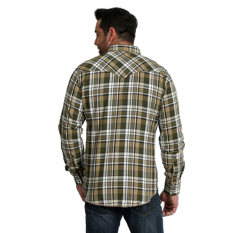 Wrangler Men's Retro Premium Plaid Flannel Shirt
