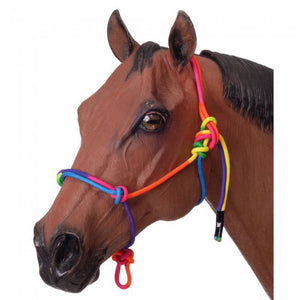 Tough-1 Rainbow Rope Halter