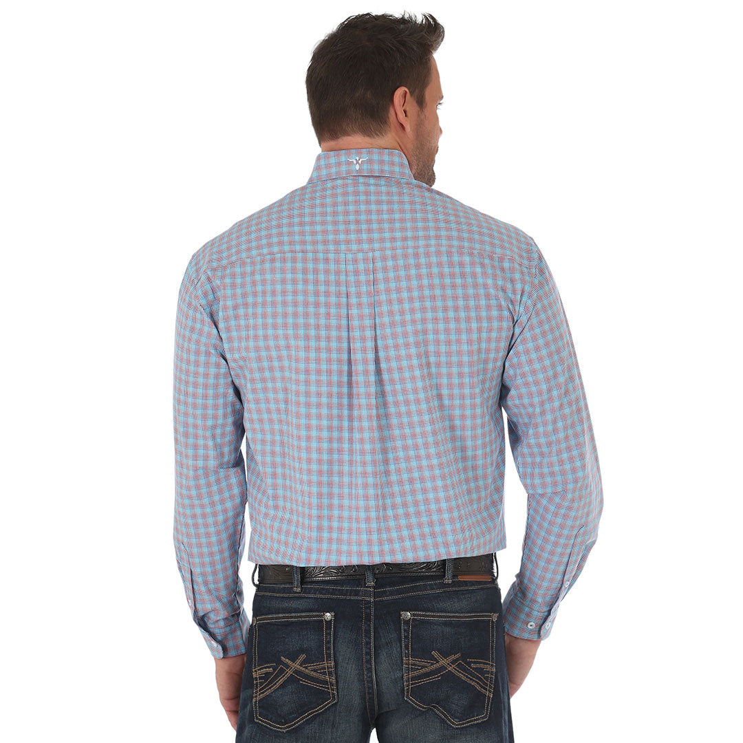 Wrangler® 20X®  Advanced Comfort Blue Plaid Shirt
