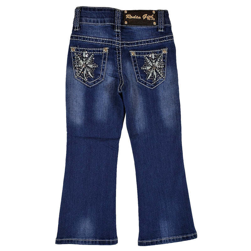 Rodeo Girl Girl's Star Embroidered Bootcut Jeans