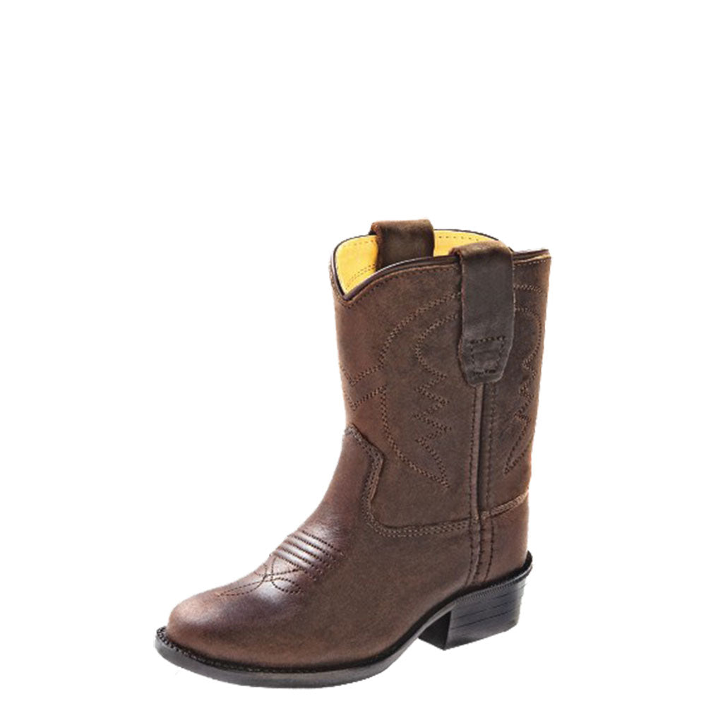 Old West Toddler Brown Western Boots