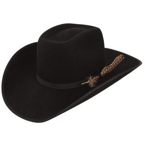 Resistol Holt B 4X Black Brick Top Cowboy Hat