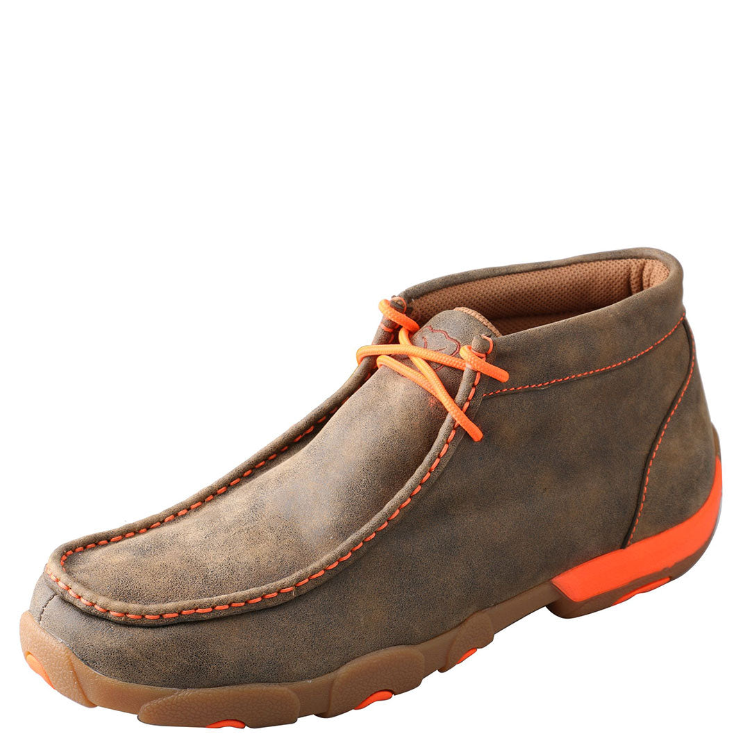 Twisted X Neon Orange Chukka Driving Moc
