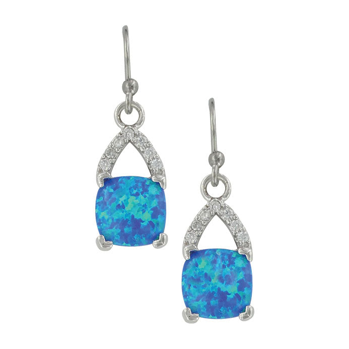 Montana Silversmiths Cushioned Opal Drop Earrings