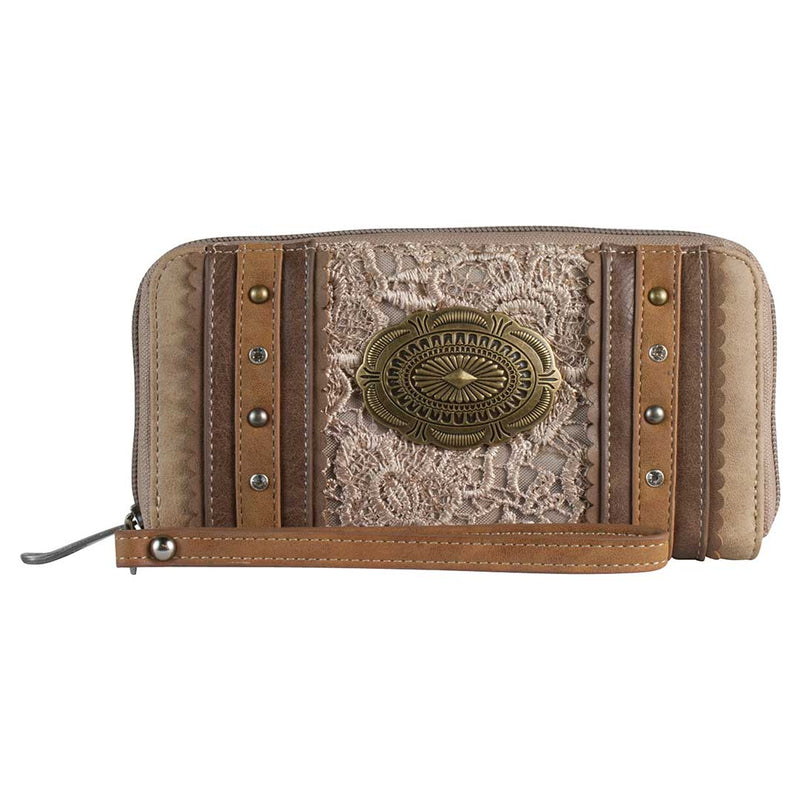 Justin Light Tan Lace & Concho Wallet