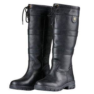 Dublin River Grained Black Boots