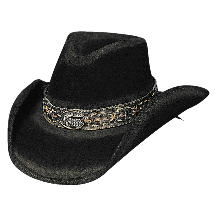 Bullhide Hats 'Billy the Kidd' Black Felt Cowboy Hat