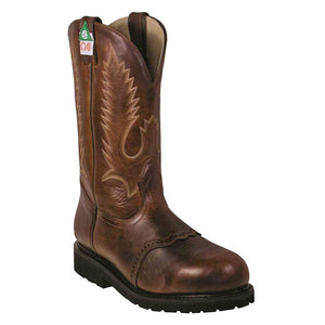 Boulet Grizzly Mountain Brown Cowboy Work Boots
