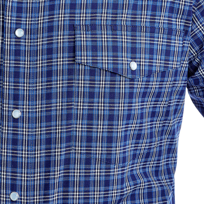 Wrangler Men's Wrinkle Resist Plaid Shirt