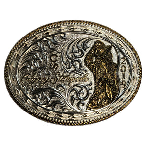 Gold & Silver 2019 Calgary Stampede Poster Buckle