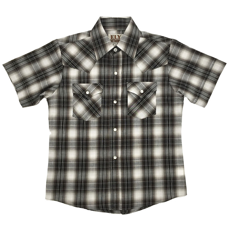 Ely Cattleman Lurex Plaid Shirt