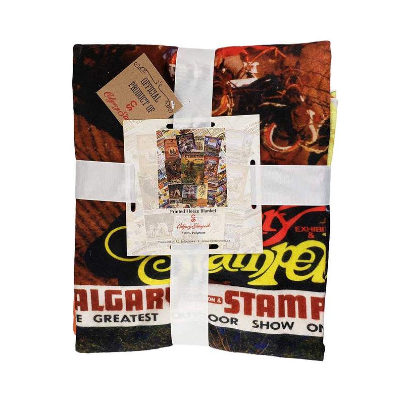 Calgary Stampede Poster Collage Fleece Blanket