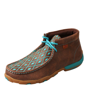 Twisted X Brown & Turquoise Womens Driving Moc