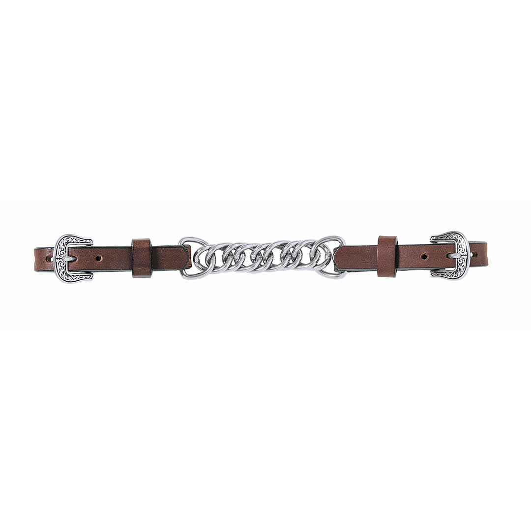 Weaver Basin Cowboy Single Flat Link Chain Curb Strap