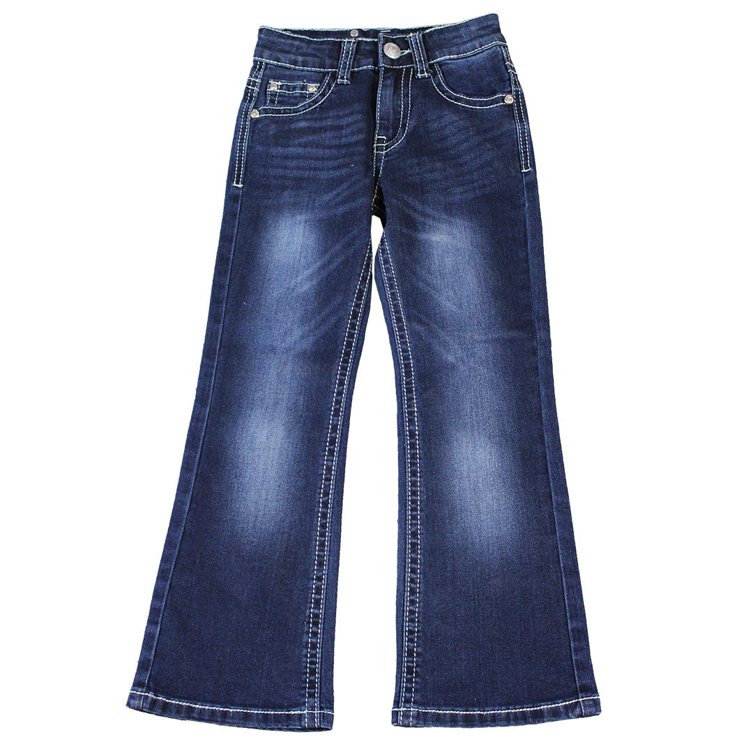 Rodeo Girl Button Flap Jeans