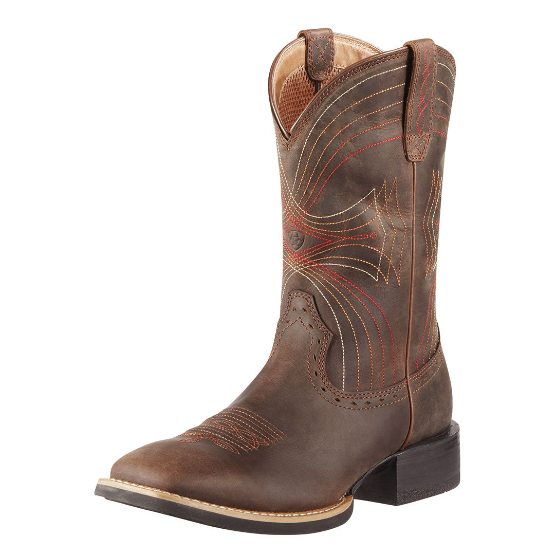 Ariat Sport Distressed Brown Western Boots
