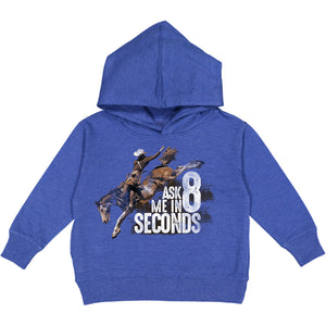 Wrangler 8 Seconds Boys Blue Fleece Hoodie