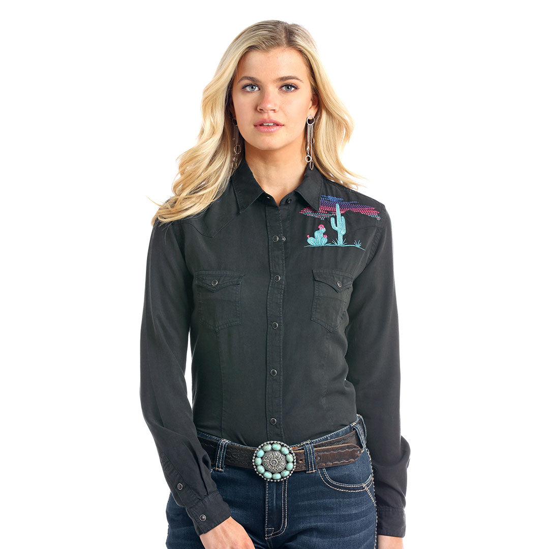 Rough Stock Black Tencel Escalante Women's Shirt