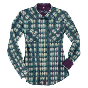 Sherry Cervi Imperia Green Plaid Women's Shirt