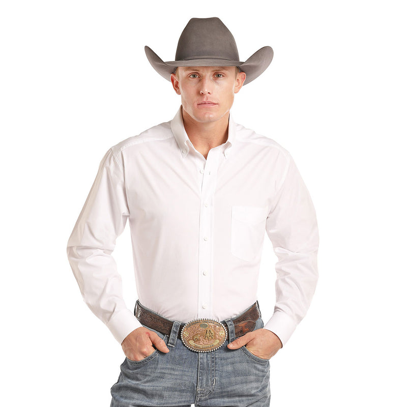 Panhandle Tuf Cooper Performance Solid White Shirt