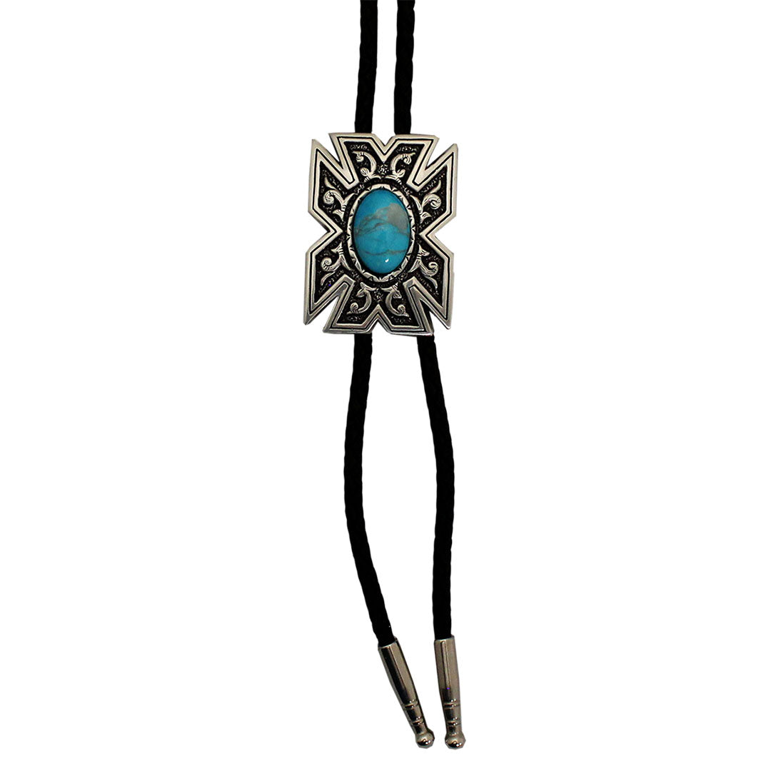 AndWest Varied Edge Stone Bolo Tie