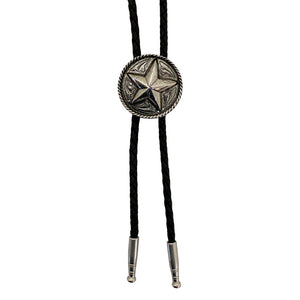 AndWest Silver Tone Star Bolo Tie