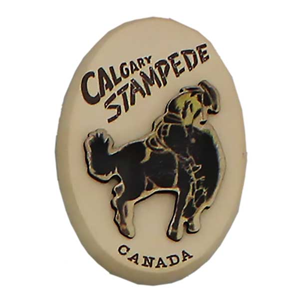Retro Oval Bronc Calgary Stampede Wooden