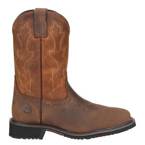 Double H Scottie Comp Toe Brown Cowboy Boot