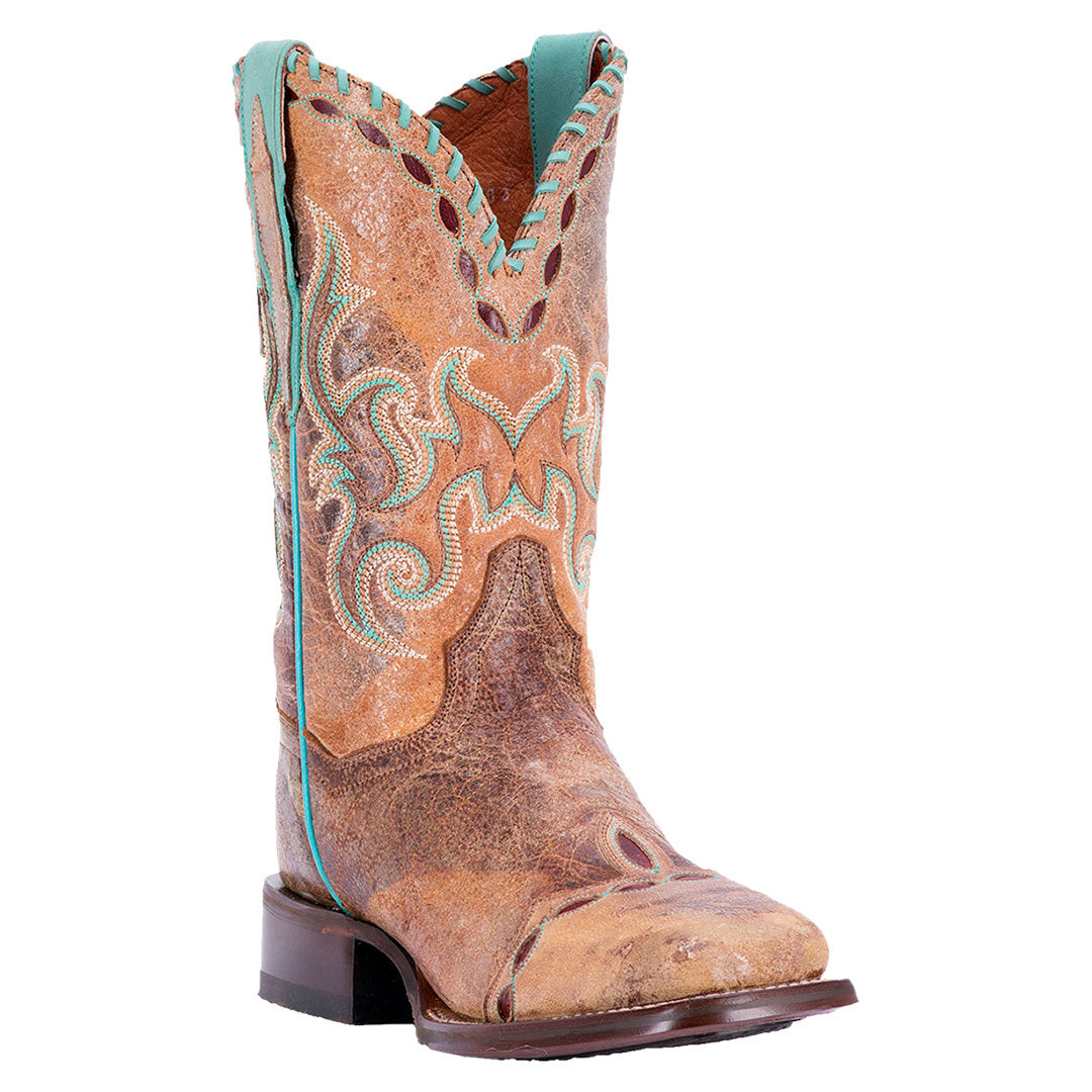 Dan Post McKenna Distressed Tan Cowgirl Boots