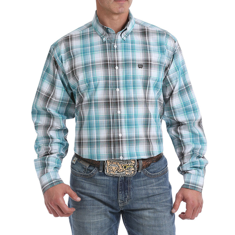 Cinch Men's Ombre Plaid Classic Fit Shirt