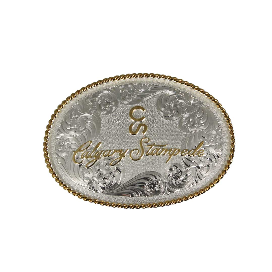 Gold & Silver Filigree Calgary Stampede Logo Buckle
