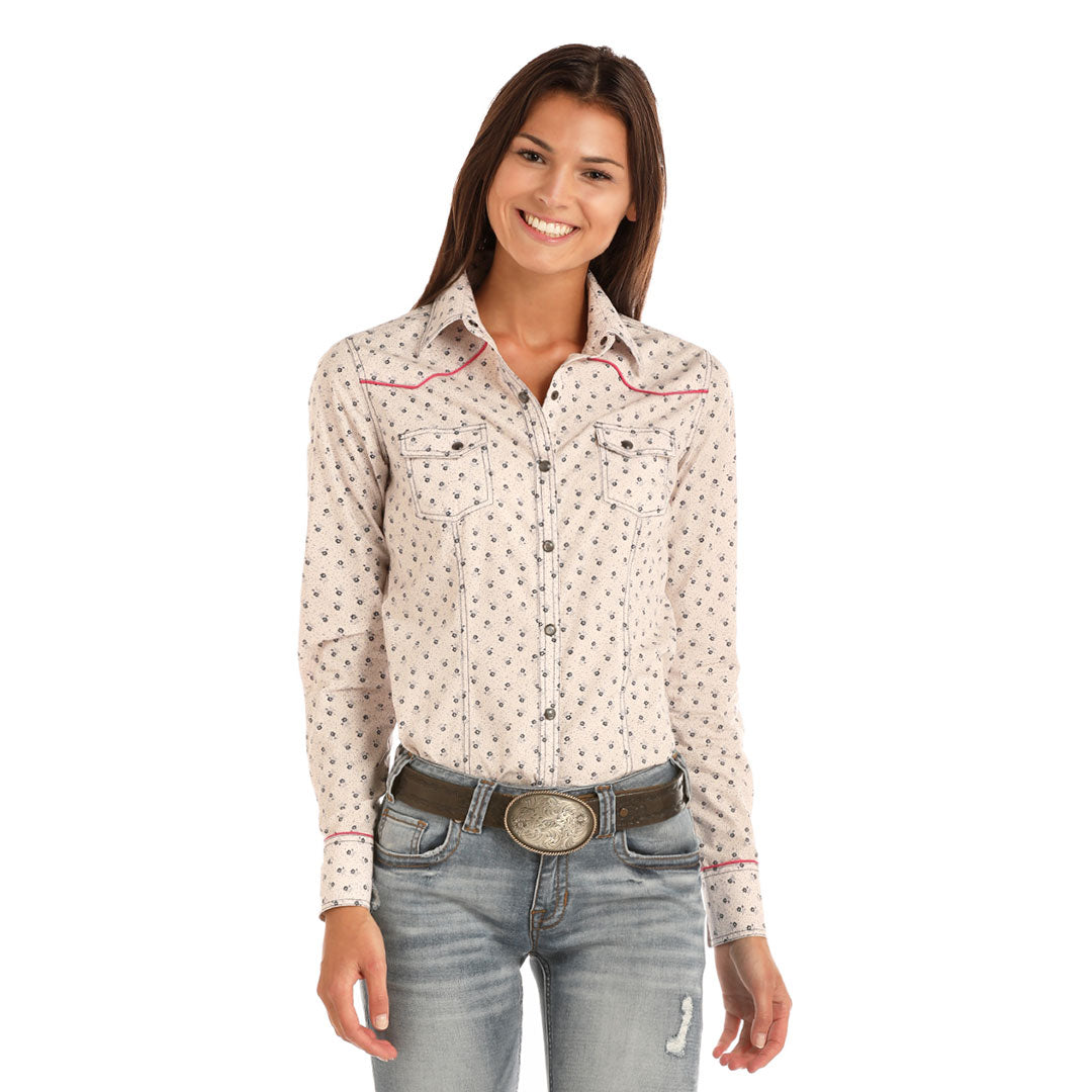 Rock & Roll Cowgirl Floral Print Shirt