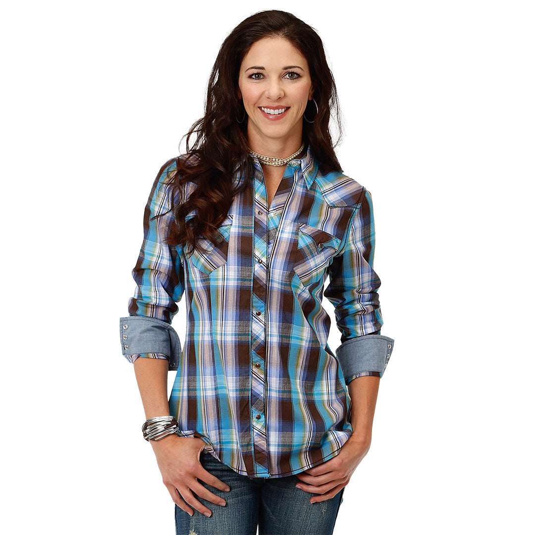 Roper Mallard Plaid Snap Shirt