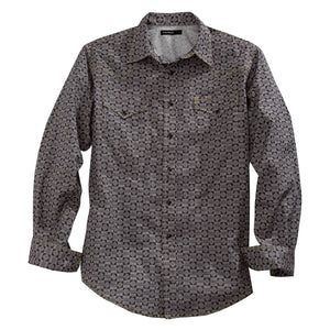 Tin Haul Grey Geometric Print Shirt