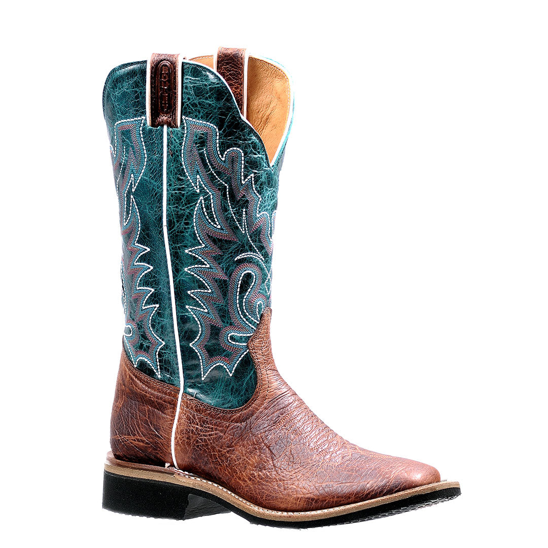 Boulet Extralight Sole Turquoise & Brown Cowgirl Boot