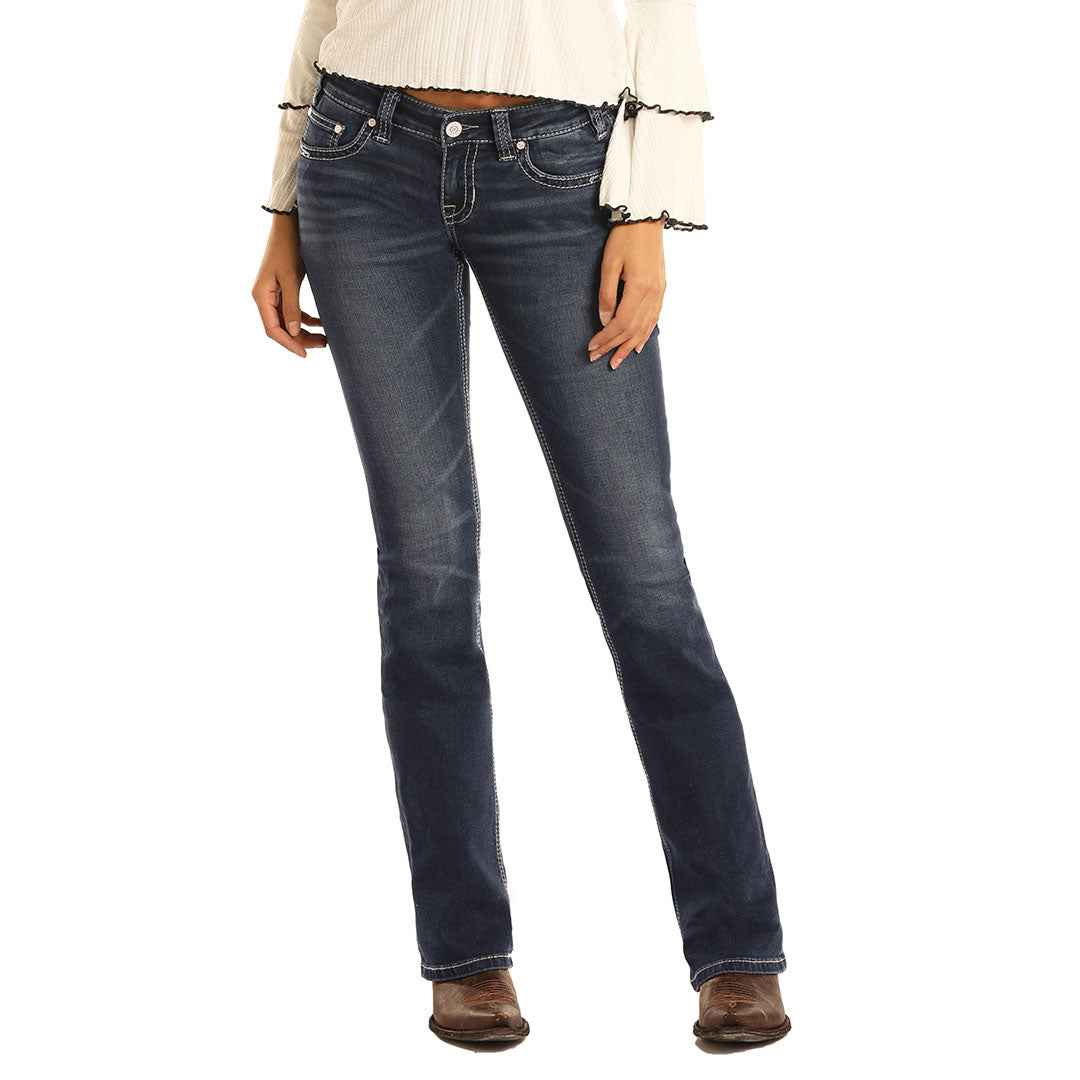 Rock & Roll Denim Rival Boot Cut Womens Jean
